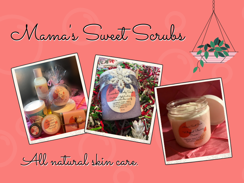 Mama Sweet Scrubs, New, Illustration, Bounce Marketing and Consulting, Najm Duran, Entrepreneur